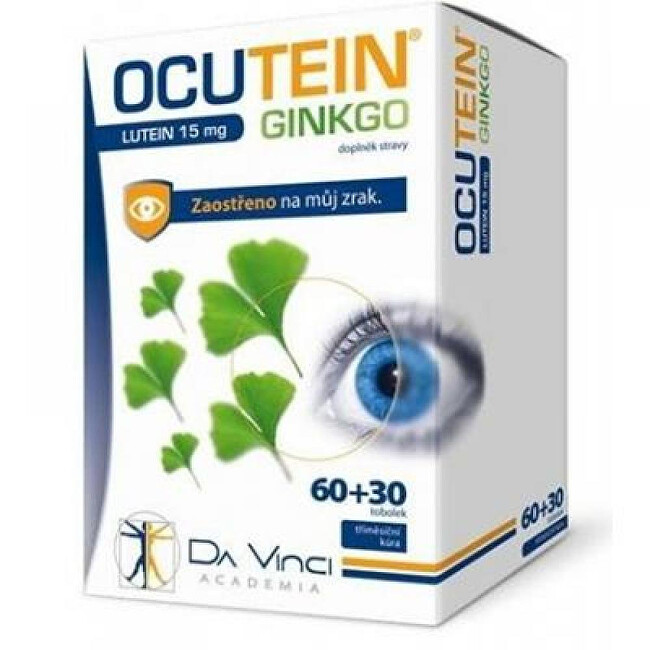 Simply You Ocutein Ginkgo 45 mg + Lutein 15 mg Da Vinci 60 + 30 tobolek