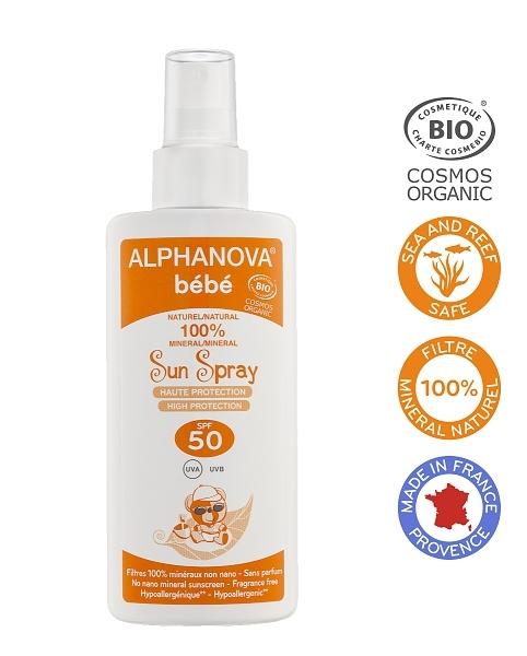 Zobrazit detail výrobku Alphanova Montbrun Opalovací krém pro miminka SPF 50 BIO 125 ml
