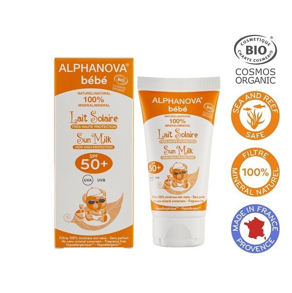 Zobrazit detail výrobku Alphanova Montbrun Opalovací krém pro miminka SPF 50+ BIO 50 ml