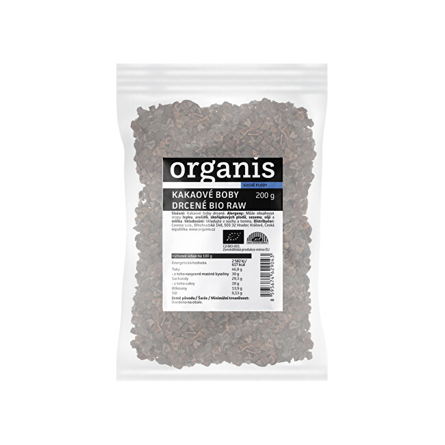 Organis Organis Drcené kakaové boby 200 g