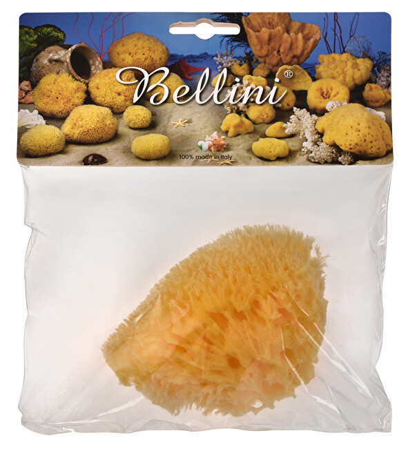 BELLINI Přírodní mořská houba – Středomořská – HONEYCOMB – SVĚTLÁ 9 - 10 cm