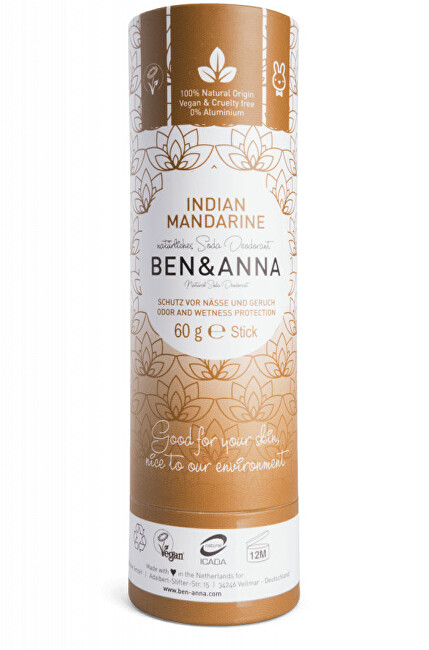 Zobrazit detail výrobku BEN & ANNA Tuhý deodorant BIO 60 g - Indická mandarinka