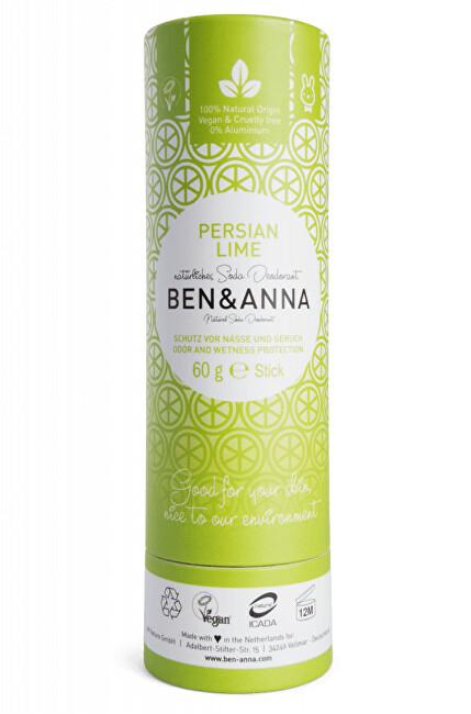 BEN & ANNA Tuhý deodorant BIO 60 g - Perská limetka