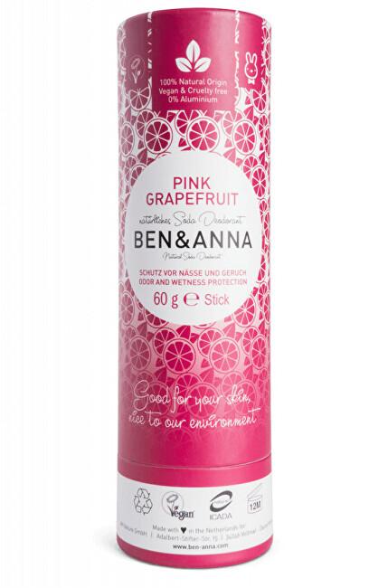 Zobrazit detail výrobku BEN & ANNA Tuhý deodorant BIO 60 g - Růžový grapefruit
