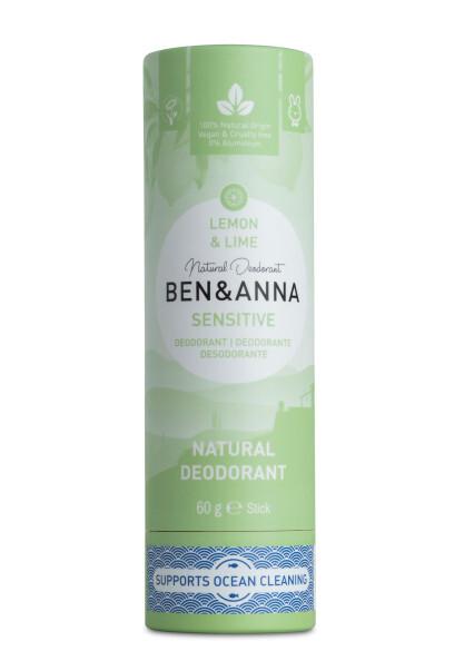 Zobrazit detail výrobku BEN & ANNA Tuhý deodorant Sensitive BIO 60 g - Citrón a limetka