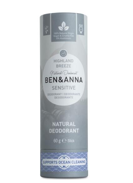 Zobrazit detail výrobku BEN & ANNA Tuhý deodorant Sensitive BIO 60 g - Horský vánek