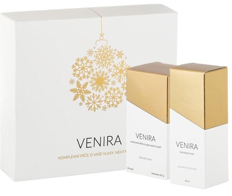 Zobrazit detail výrobku Venira VENIRA dárkový set - 40 denní kúra 80 kapslí a švestkový olej 50 ml