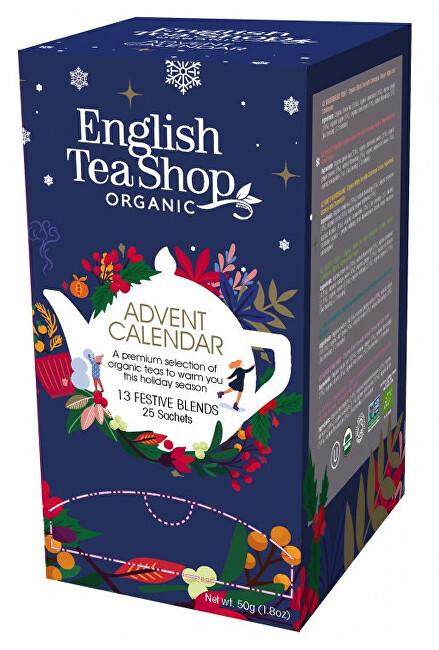 Zobrazit detail výrobku English Tea Shop Adventní kalendář krabička, 25 nál. Sáčků, 13 příchutí