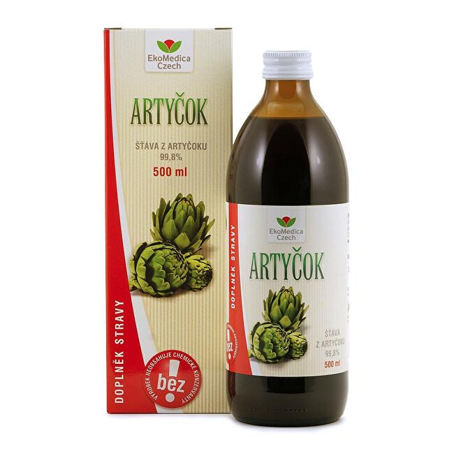 EkoMedica Czech Artičok - 99,8% šťava z artičokov 500 ml