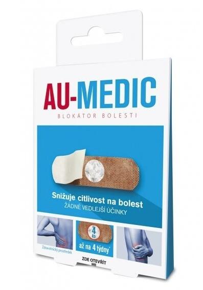 Zobrazit detail výrobku Au-Medic blokátor bolesti náplasti (crystal tape) 4 ks