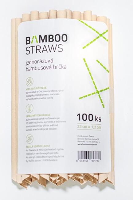 Bamboo Europe Bambusové brčko 12 mm x 23 mm bag 100 ks