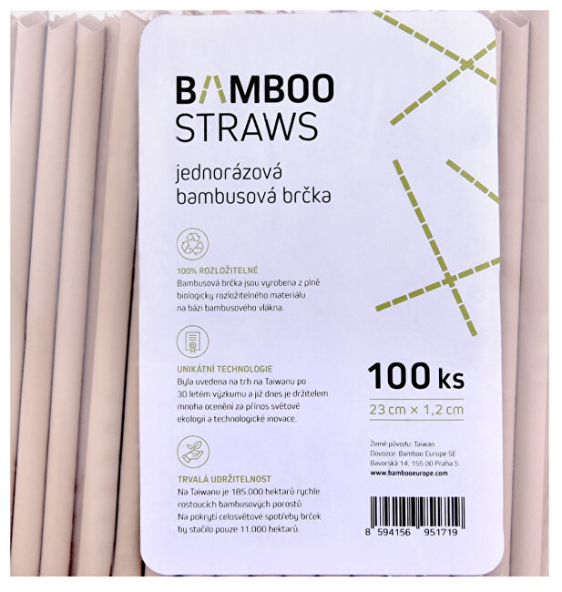Zobrazit detail výrobku Bamboo Europe Bambusové brčko 12 mm x 23 mm bag 100 ks
