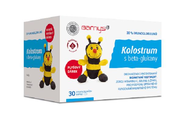 Barny´s Barny´s Kolostrum s beta-glukany 30 tablet + dárek