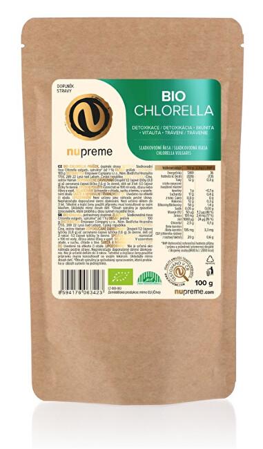Zobrazit detail výrobku Nupreme Chlorella 100g prášek BIO NUPREME