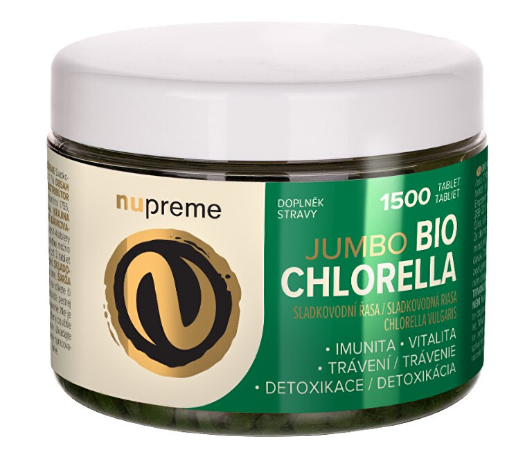 Zobrazit detail výrobku Nupreme Chlorella Jumbo 1 500 tablet BIO