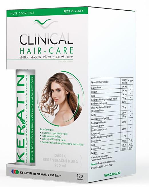 Clinical Clinical Hair-Care 120 tobolek + keratin 100 ml - kúra na 4. měsíce - SLEVA - POŠKOZENÝ OBAL