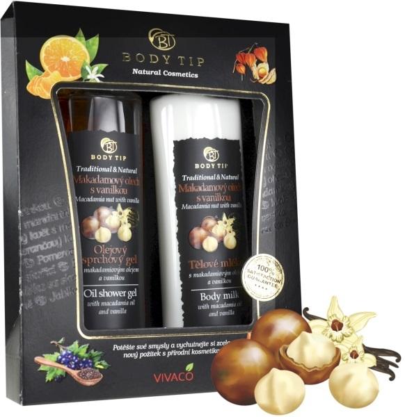 Zobrazit detail výrobku Body tip Dárková kazeta Makadamový ořech s vanilkou - sprch. gel 200 ml, těl. mléko 200 ml