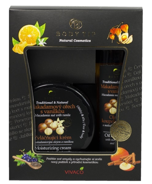 Zobrazit detail výrobku Body tip Dárková kazeta Makadamový ořech s vanilkou - Zvláčňující krém 200 ml + Pěna do koupele 200 ml