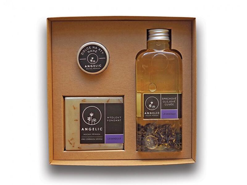 Zobrazit detail výrobku Angelic Dárková krabička Angelic sprchové olejové cuveé Levandule