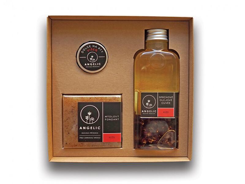 Zobrazit detail výrobku Angelic Dárková krabička Angelic sprchové olejové cuveé Růže