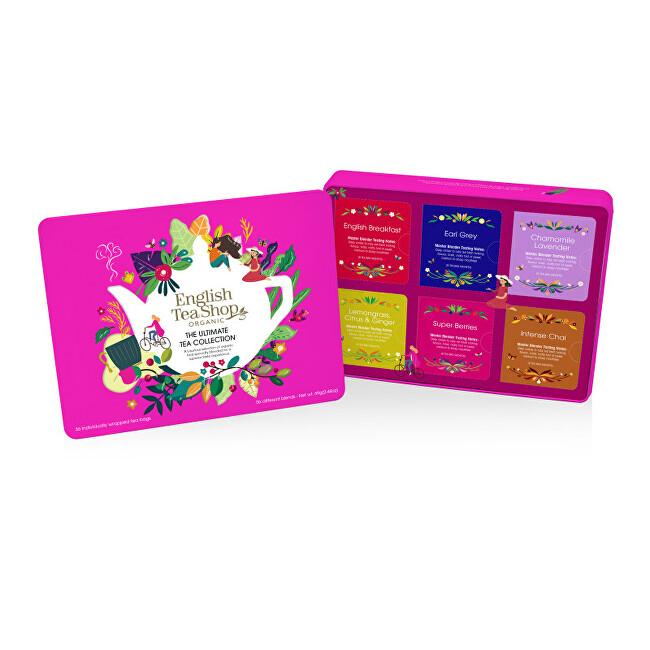 Zobrazit detail výrobku English Tea Shop Dárková plechová kazeta červená Bio 36 sáčků
