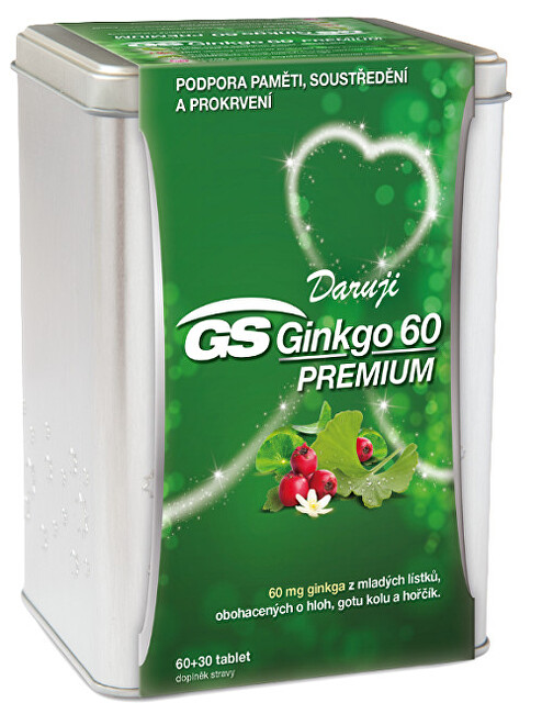 GreenSwan GS Ginkgo 60 Premium 90 tablet v plechové krabičce