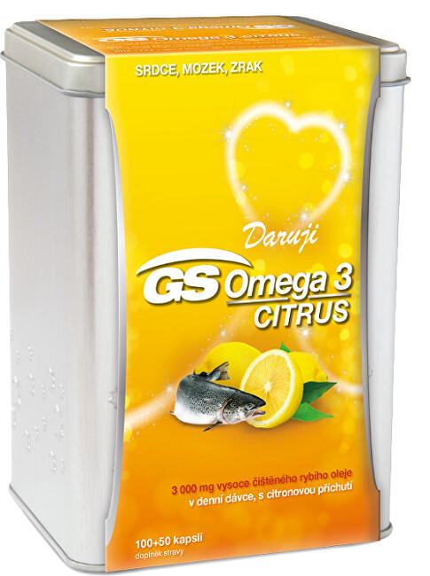 Zobrazit detail výrobku GreenSwan GS Omega 3 Citrus 150 kapslí v plechové krabičce