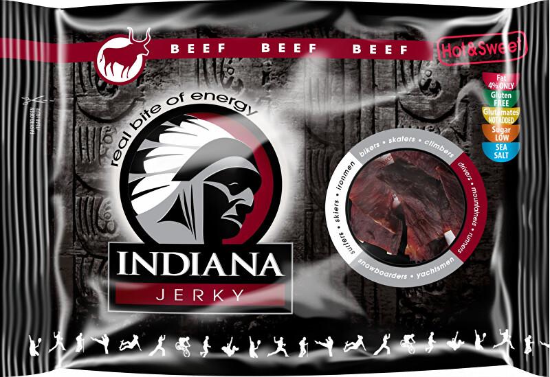 Zobrazit detail výrobku Indiana Indiana Jerky beef (hovězí) Hot & Sweet 100 g