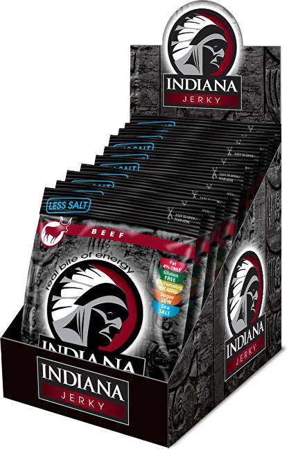 Zobrazit detail výrobku Indiana Indiana Jerky beef (hovězí) Less Salt 250 g - display