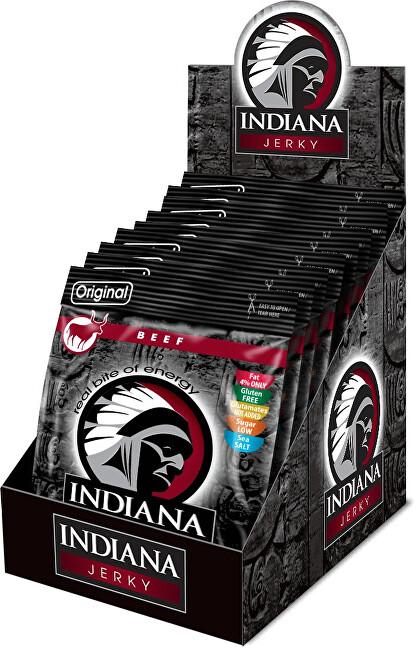 Zobrazit detail výrobku Indiana Indiana Jerky beef (hovězí) Original 250 g - display