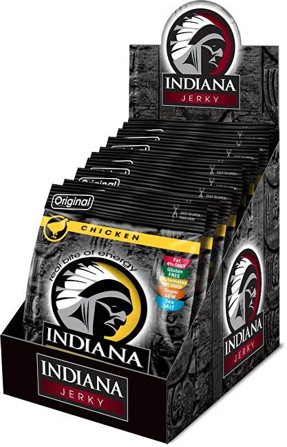 Zobrazit detail výrobku Indiana Indiana Jerky chicken (kuřecí) Original 250 g - display
