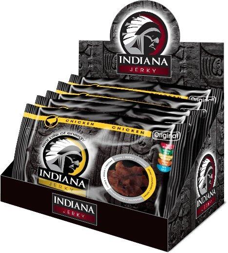 Zobrazit detail výrobku Indiana Indiana Jerky chicken (kuřecí) Original 500 g - display
