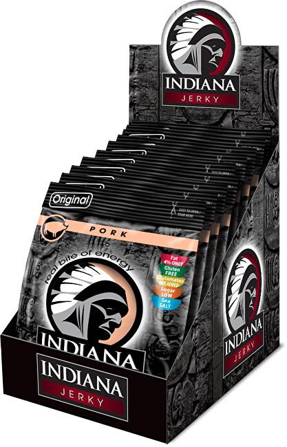 Zobrazit detail výrobku Indiana Indiana Jerky pork (vepřové) Original 250 g - display