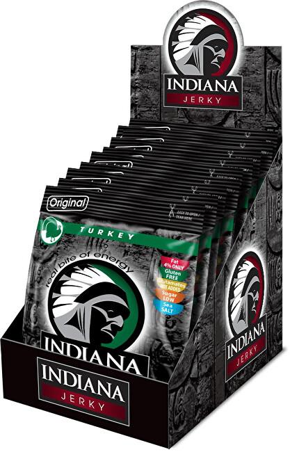 Zobrazit detail výrobku Indiana Indiana Jerky turkey (krůtí) Original 250 g - display