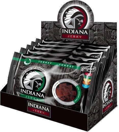 Zobrazit detail výrobku Indiana Indiana Jerky turkey (krůtí) Original 500 g - display
