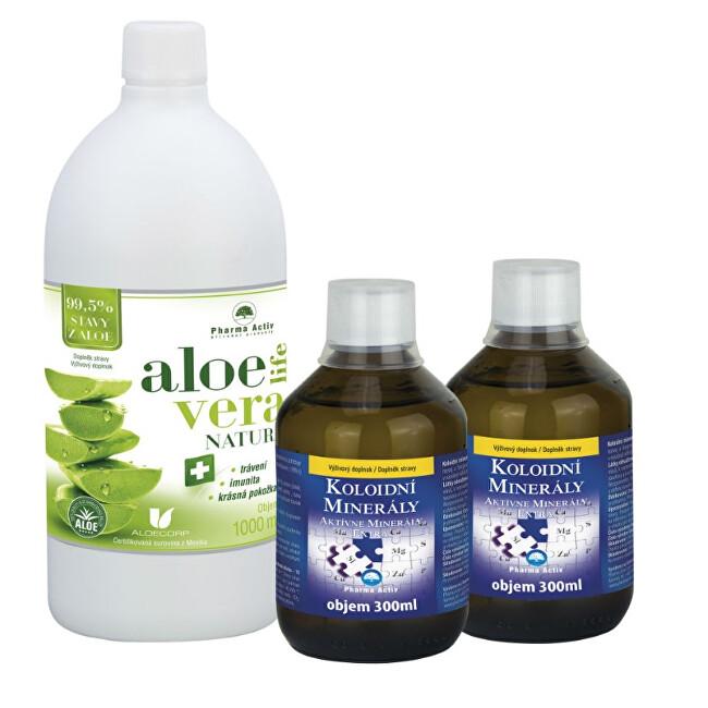 Zobrazit detail výrobku Pharma Activ Koloidní minerály. 2 x 300 ml + AloeVeraLife NATURA 1000 ml