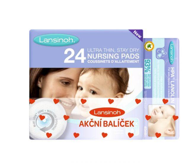 Lansinoh Lansinoh COMBI PACK HPA lanolin 40 ml & vložky do podprsenky 24 ks