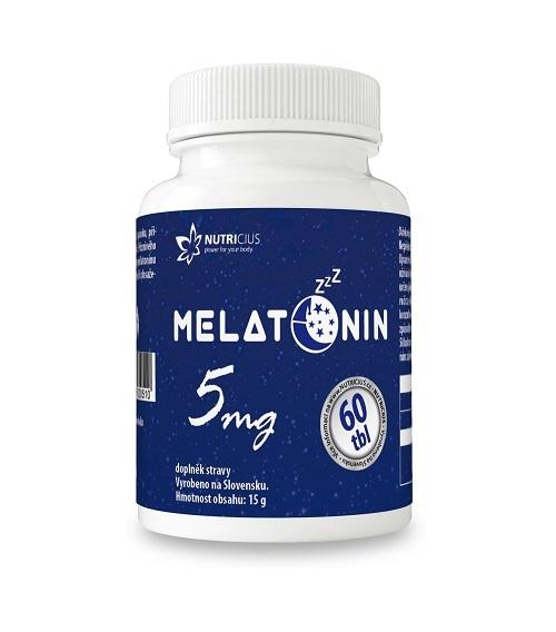 Zobrazit detail výrobku Nutricius Melatonin 5 mg 60 tablet