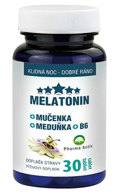 Zobrazit detail výrobku Pharma Activ Melatonin Mučenka Meduňka B6 30 tablet