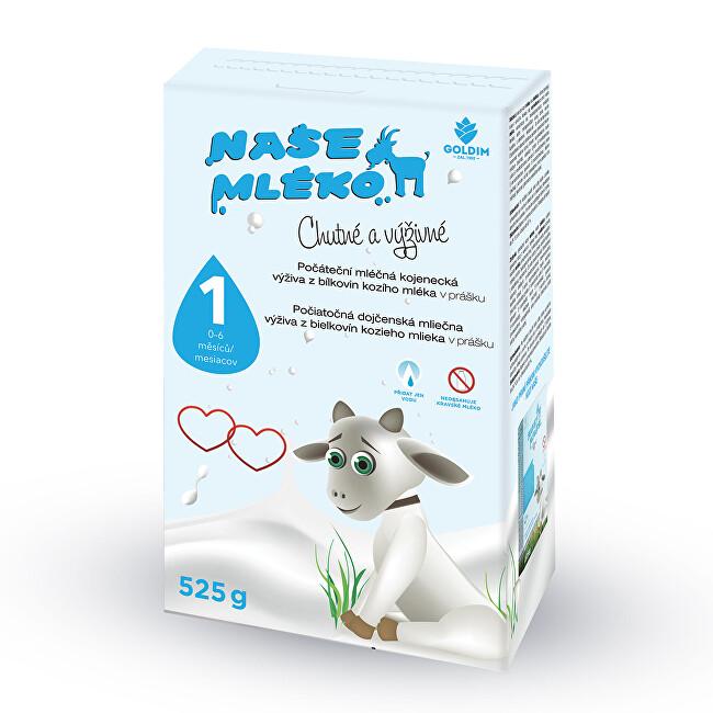 Goldim Naše méko - 1 počát. výživa z kozího mléka 0-6m 525 g