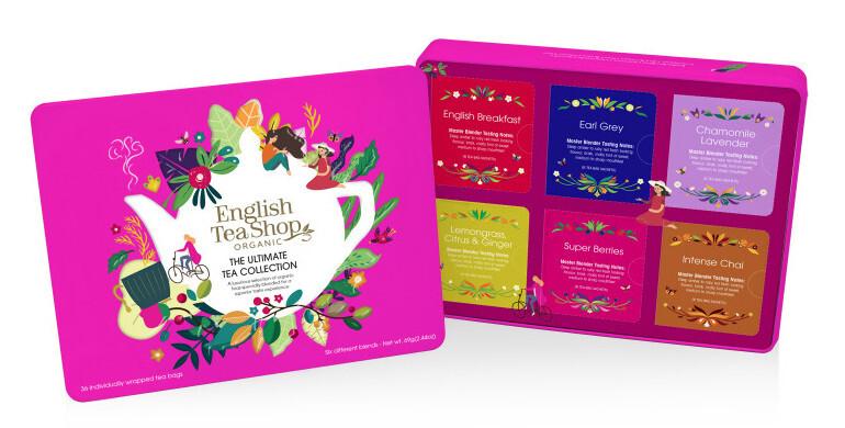 Zobrazit detail výrobku English Tea Shop Plechová kazeta červená klasik, 36 nál. sáčků