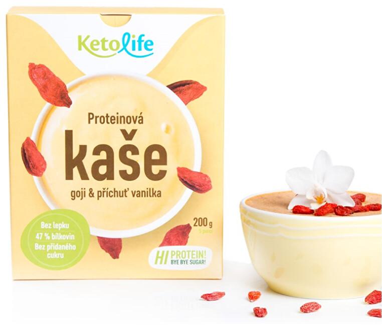 KetoLife Proteinová kaše - Goji a příchuť vanilka 5 x 40 g