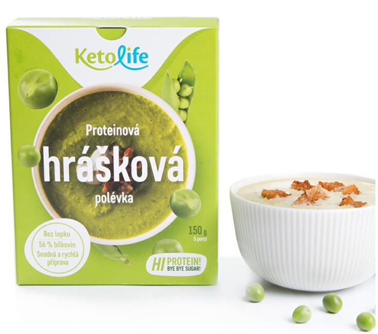 Zobrazit detail výrobku KetoLife Proteinová polévka - Hrášková 5 x 30 g