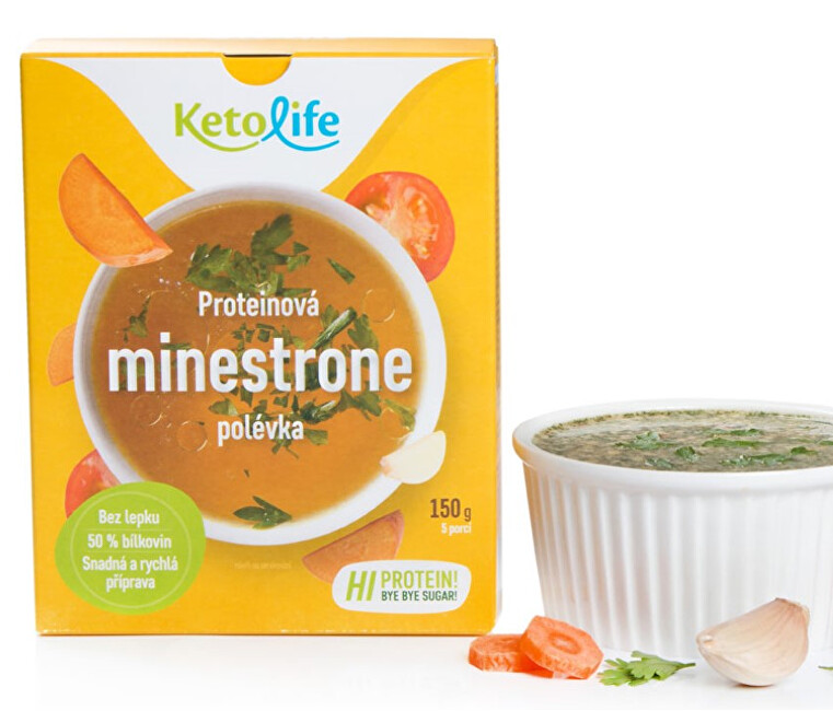 Zobrazit detail výrobku KetoLife Proteinová polévka - Minestrone 5 x 30 g