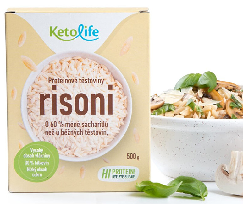 KetoLife Proteinové těstoviny - Risoni 500 g