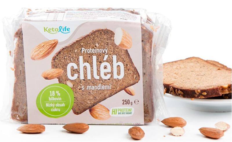 Zobrazit detail výrobku KetoLife Proteinový chléb - S mandlemi 250 g