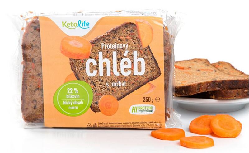 KetoLife Proteinový chléb - S mrkví 250 g