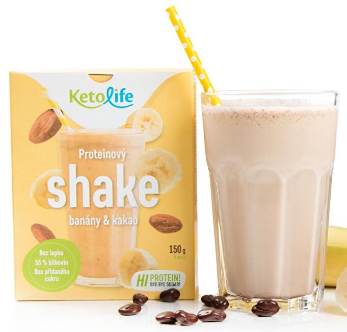 Zobrazit detail výrobku KetoLife Proteinový shake - Banány a kakao 5 x 30 g