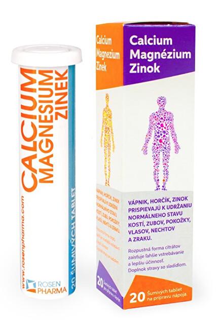 Zobrazit detail výrobku Rosenpharma Rosen Calcium Magnesium Zinek 20 šumivých tablet