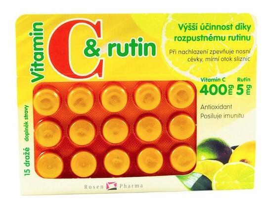 Zobrazit detail výrobku Rosenpharma Rosen Vit.C+rutin 400 mg 15 dražé